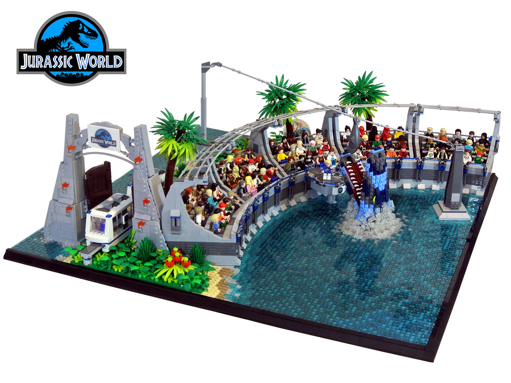 Jurassic world the 4th part of my collaboration with - Jurasic park lego ...