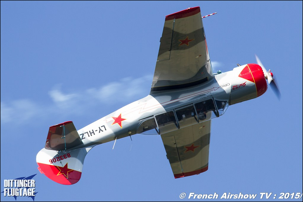 Yakovlev Yak-52 LY-HLZ , Yak-52, Dittinger Flugtage 2015 , Internationale Dittinger Flugtage, Meeting Aerien 2015