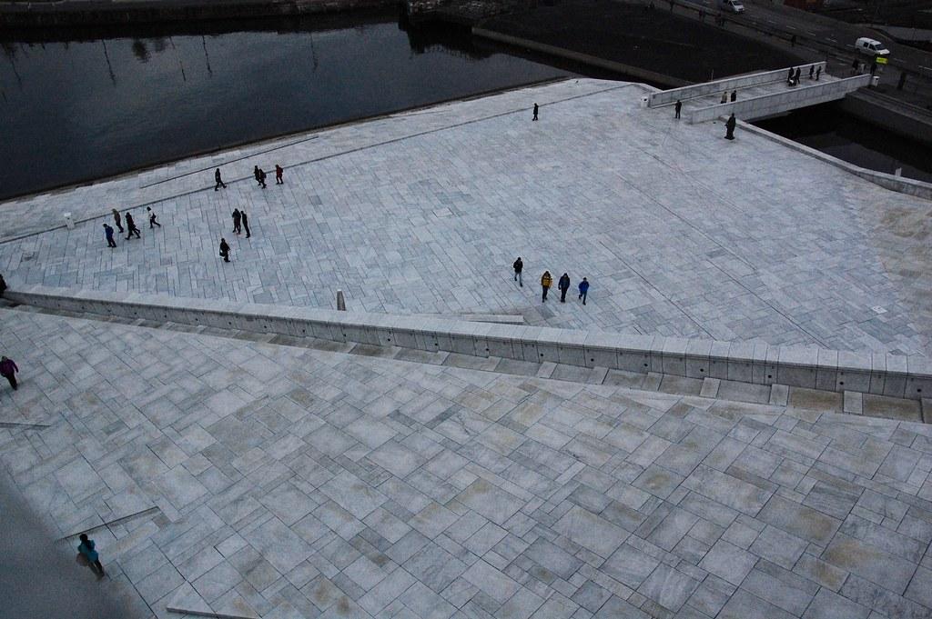 Desde arriba de la Ópera de Oslo