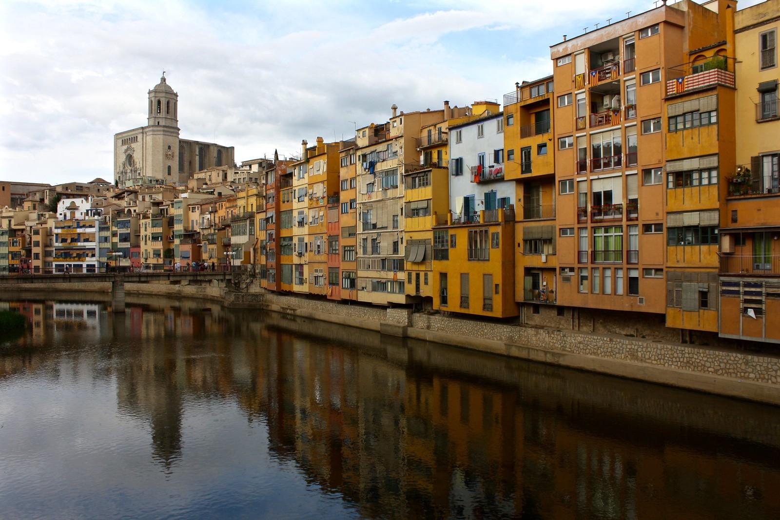Onyar River in Girona