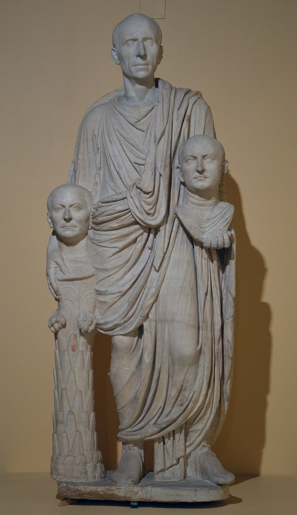 The so-called Togatus Barberini group, a funerary statue d ...