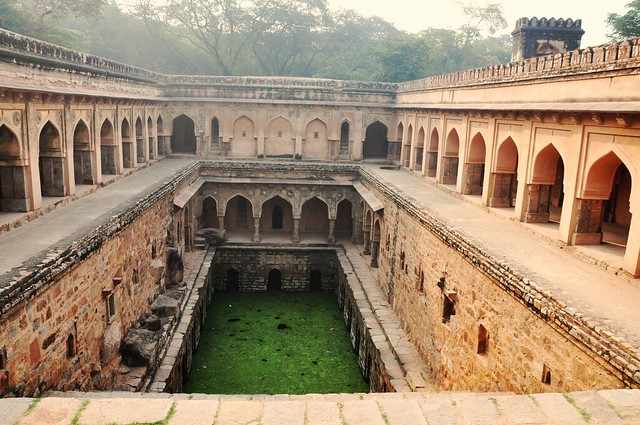 Hiding in plain sight: An ornamental stepwell, this 'baoli' would have been a source of dependable groundwater in water scare Mehrauli built on the rocky Aravalli's (Source: IWP)