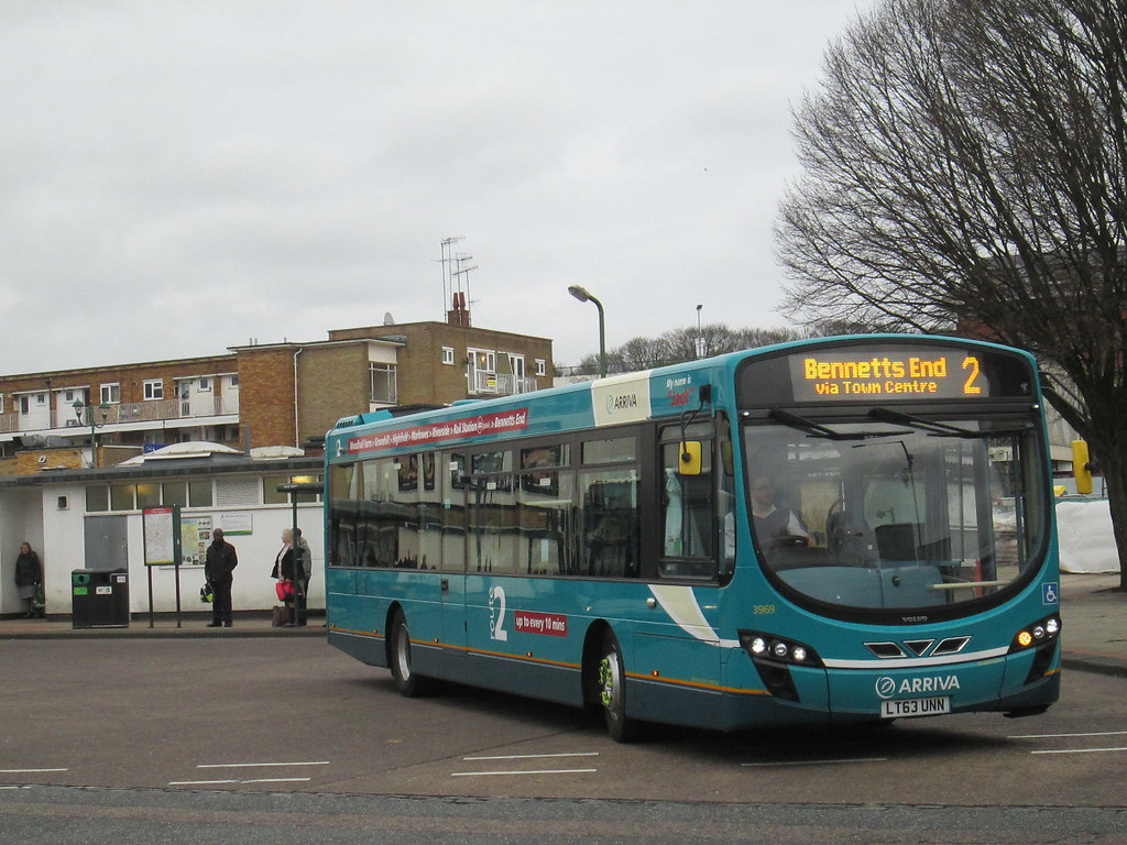 Arriva The Shires Hemel Hempstead Volvo 3969 Lt63unn On
