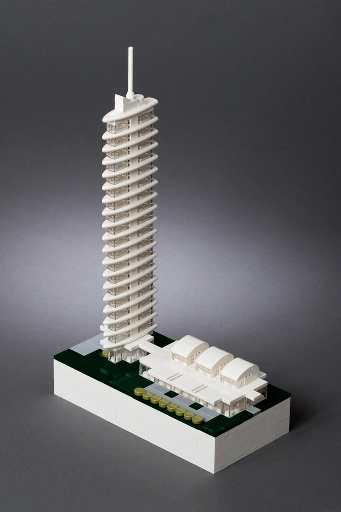 Lego Microscale Tower An Overhead View That Helps To
