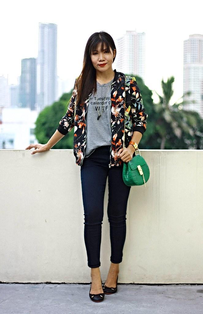 floral jacket, floral bomber jacket, sammydress