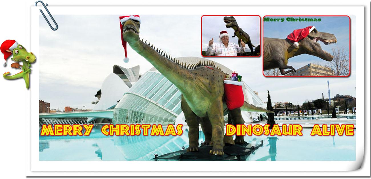 Christmas Dinosaur Theme Banner
