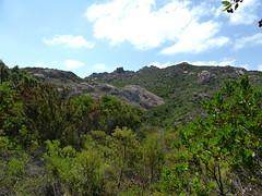 Dans la montée vers la trace SW de Ghjuncaghjola et le gros bloc rocheux caractéristique