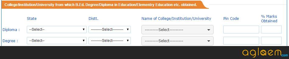 Application form of CTET 2016