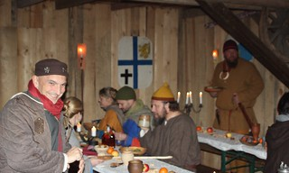 Gäste und Mitglieder auf der Weihnachtsfeier