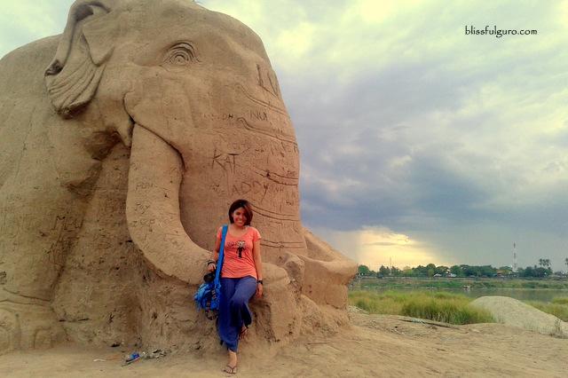Mekong Sand Art Vientiane Laos