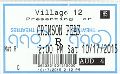 Crimson Peak ticketstub
