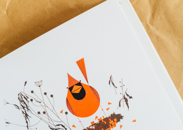 red cardinal - charley harper's birds & words book review