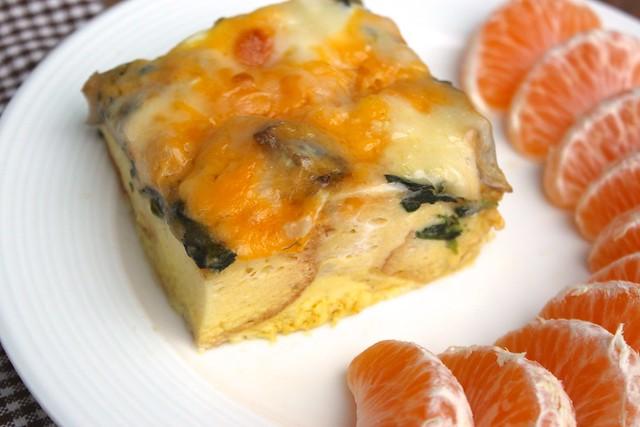 mushroom-spinach-strata