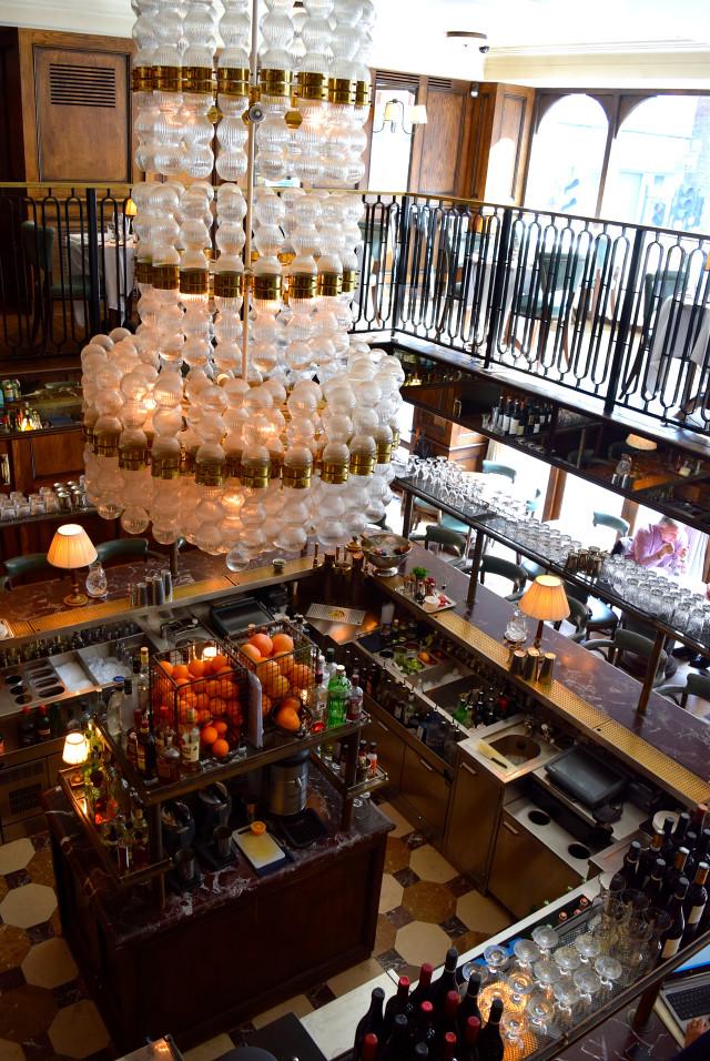 Bar at Cafe Monico, Soho | www.rachelphipps.com @rachelphipps