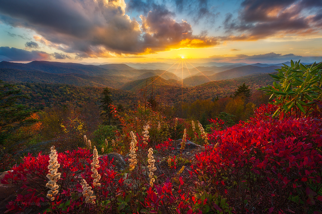 Golden Sunset Glow over Blue Ridge - 1783