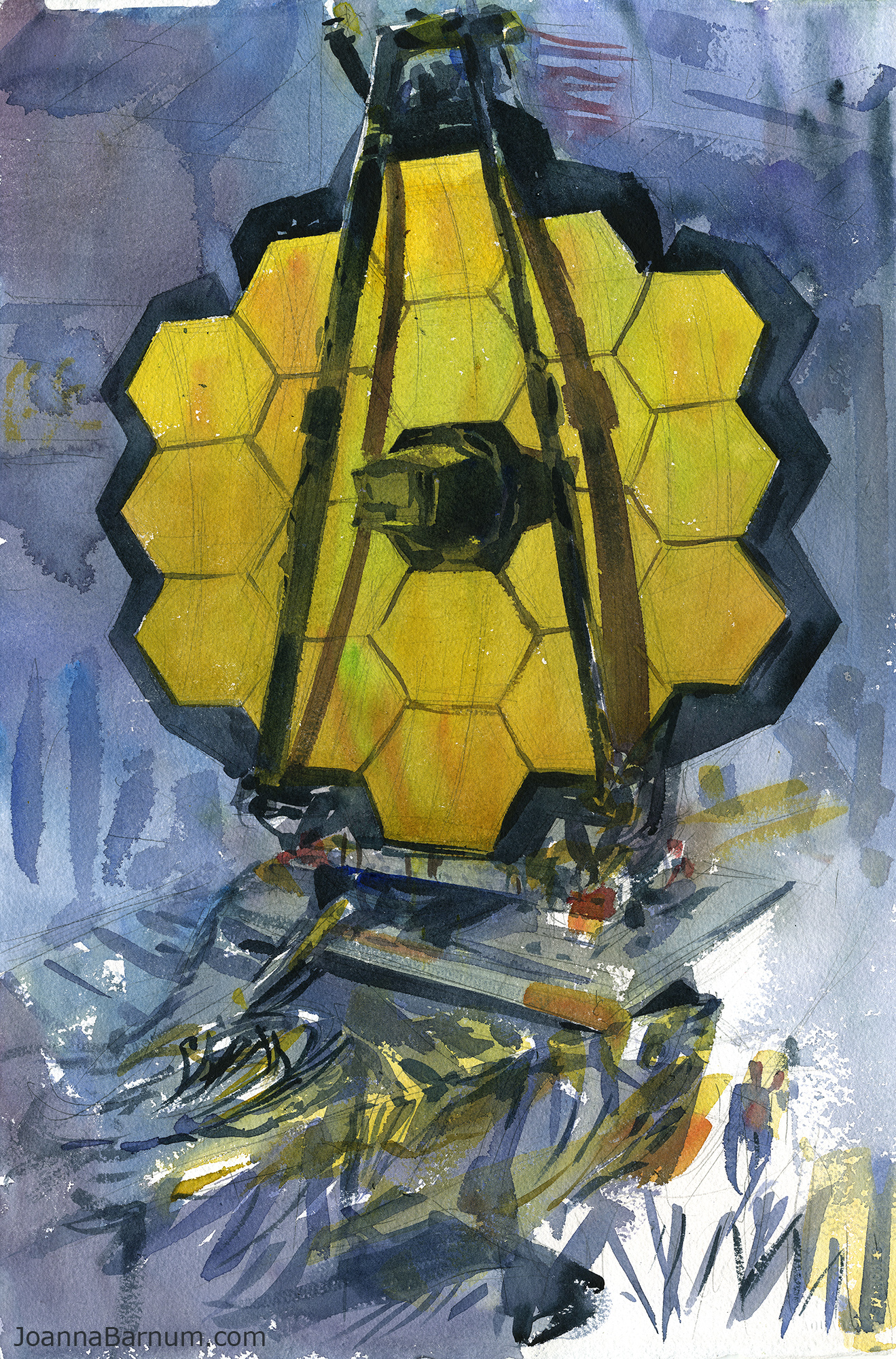 Watercolor artist magazine review - James Webb Space Telescope Watercolor On Paper The Artist