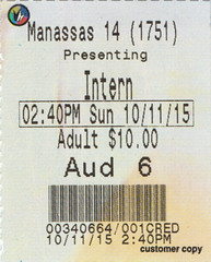 The Intern ticketstub