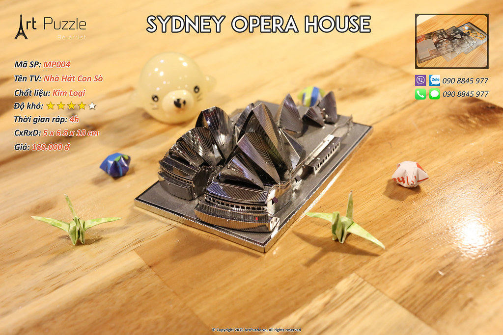Art Puzzle - Chuyên mô hình kim loại (kiến trúc, tàu, xe tăng...) tinh tế và sắc sảo - 7