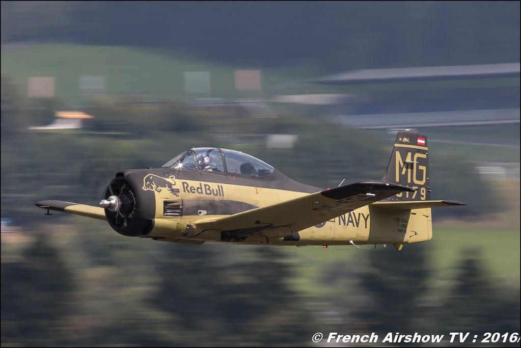 North American T-28B Trojan , OE-ESA , Red Bull - The Flying Bulls , Bristol 171B Sycamore HR52 , OE-XSY ,airpower zeltweg 2016 , AIRPOWER16 - Österreichs Airshow , Steiermark , Austria, Canon Reflex , EOS System