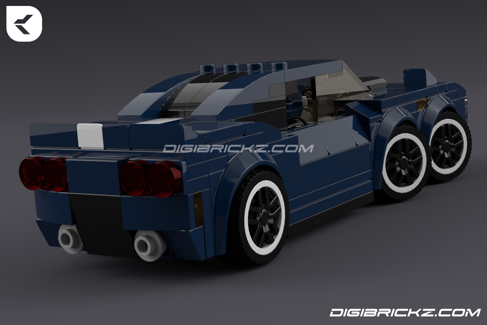 LEGO T6W-MC: The 6 Wheeled Muscle Car by Kamal Muftie Yafi (KamalMYafi/Kamteey) | DigiBrickz.com