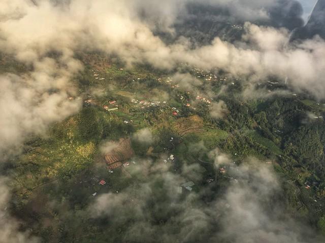 Isla Reunión a vista de helicóptero