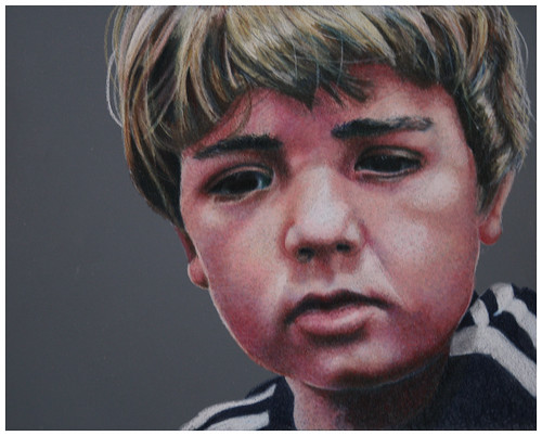 Colored pencil portrait entitled Emre, 7