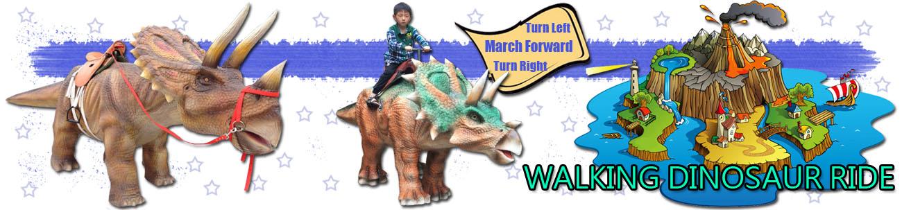 Walking Dinosaur Ride Banner