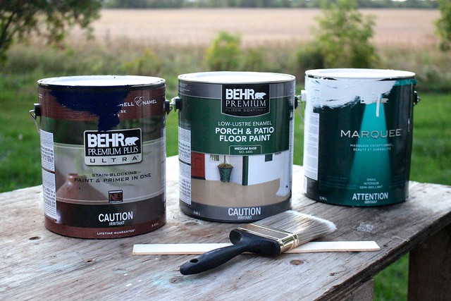 For This Room Makeover I Used Behr Premium Plus Ultra In Blue Vortex  (T16 10) For The Walls, Behr Premium Porch And Patio Floor Paint In Pacific  Fog ...
