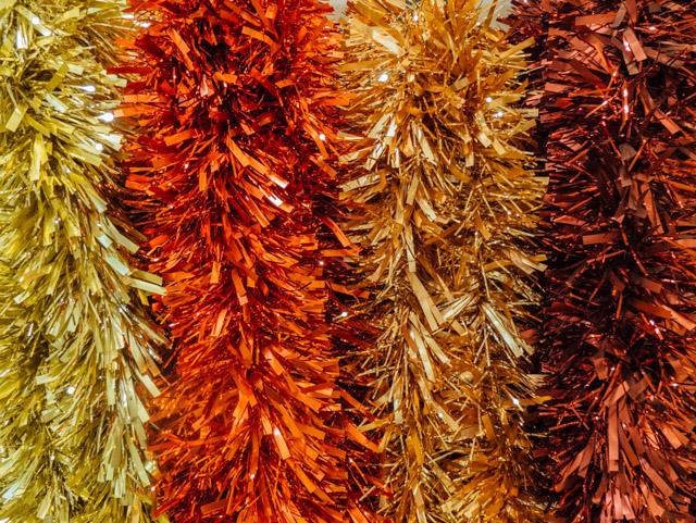 coloured foil tinsel