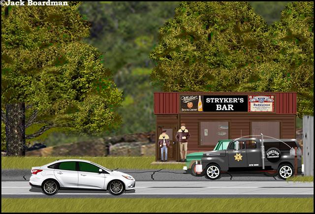 Linda and Ralph visited Strykerville ©Jack Boardman
