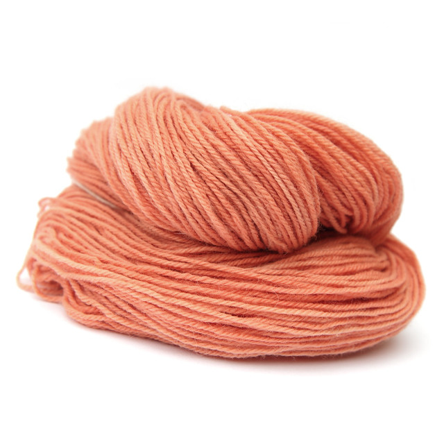 Natural dyed DK organic wool with baby alpaca – 'madder'