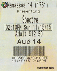 Spectre ticketstub