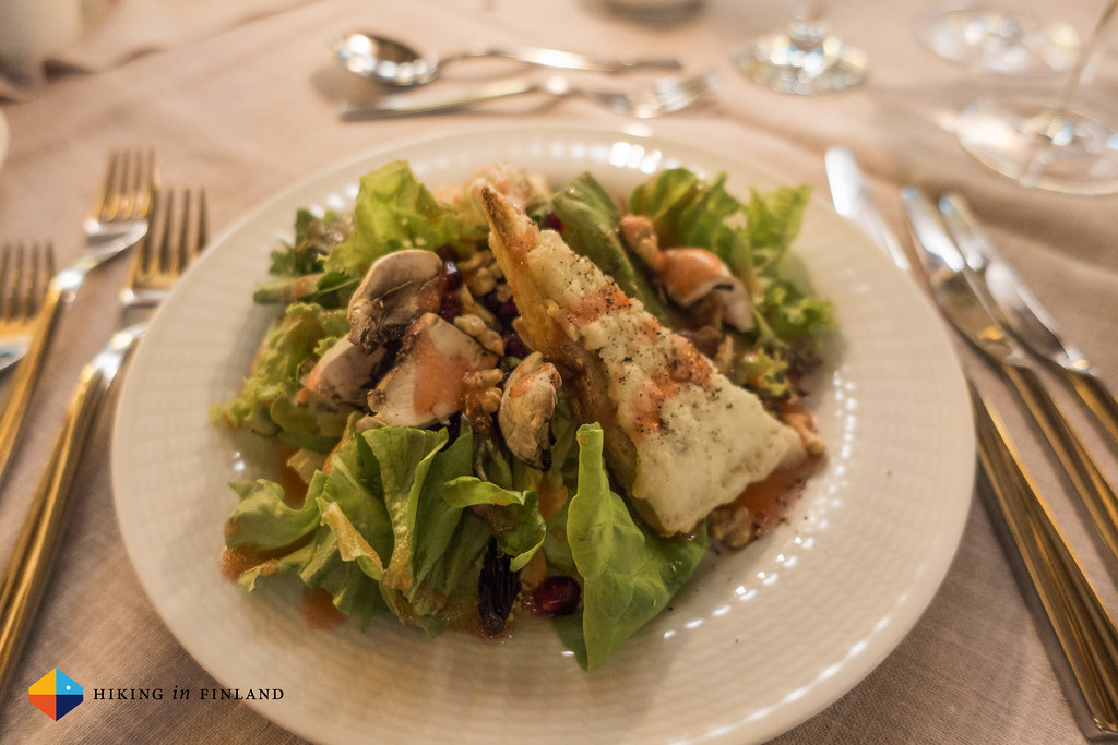 Tasty Salad at the Grand Forest Metsovo Hotel