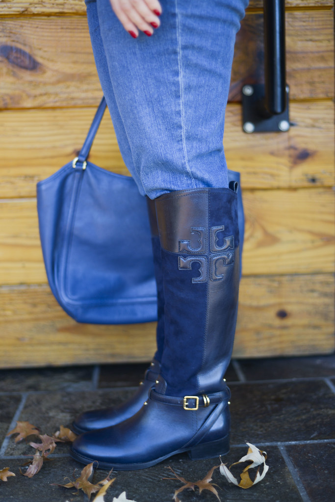 Navy Riding Boots-@akeeleywhite-Head to Toe Chic