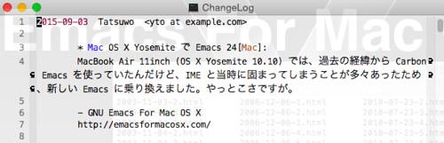 Emacs 24.5 Mac