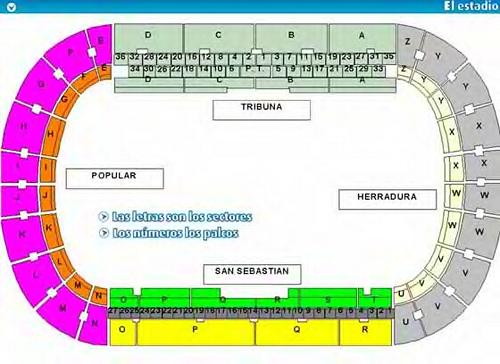 Seating plan, Heliodoro Stadium