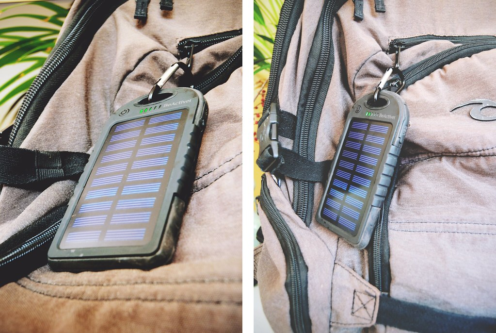 Solar Powerbank voor op reis | via It's Travel O'Clock