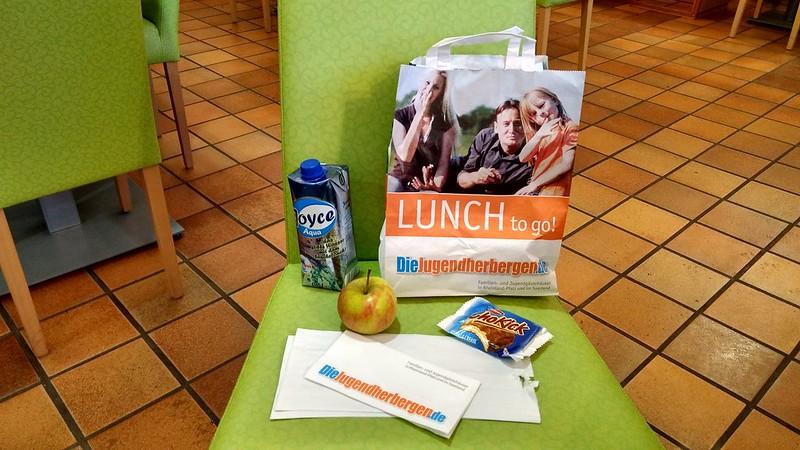 Lunchtüte in der Jugendherberge Oberwesel