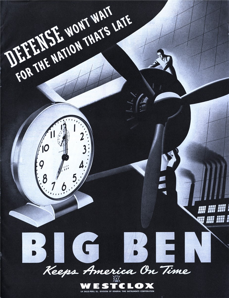 Westclox Big Ben - published in The Saturday Evening Post - December 27, 1941