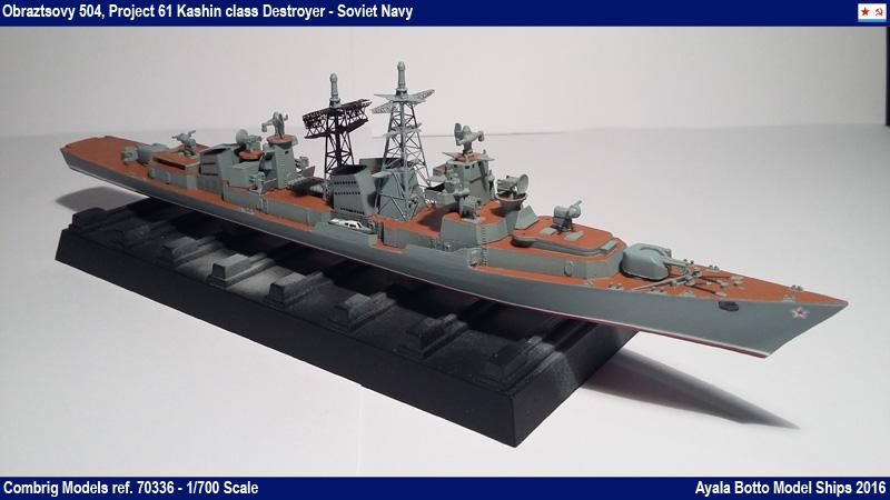 Destroyer Obraztsovy Projet 61 Classe Kashin Combrig 1/700 Marine Soviétique 31029748100_ac8410f100_o
