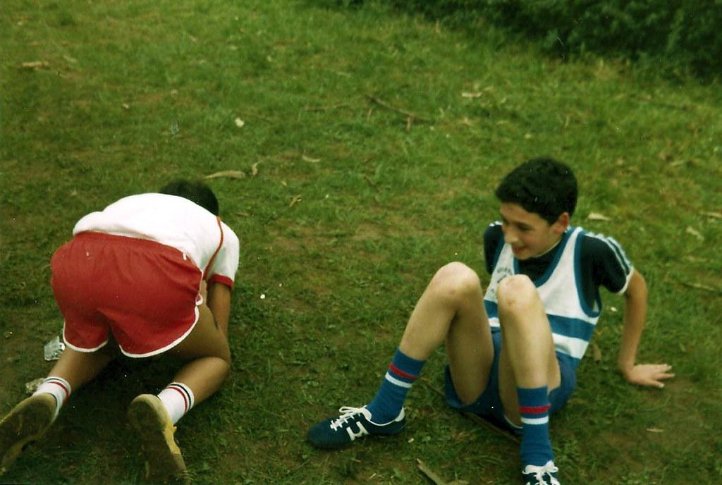 Juan, a los 14 años, observando al rival. Foto 010