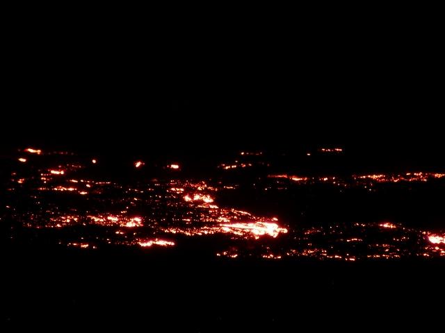 Coladas de lava del volcán Le Piton de la Fournaise (Isla Reunión)