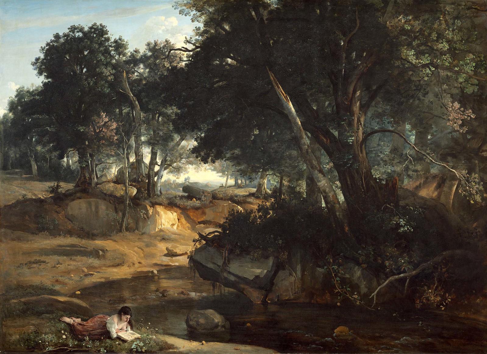 Camille Corot: Corot, Der Wald von Fontainebleau, 1834