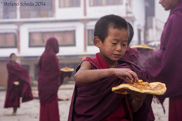Daily breakfast at Tawang Monastery - Arunachal Pradesh, India