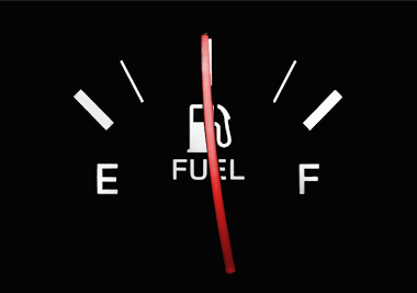 Half empty fuel gauge