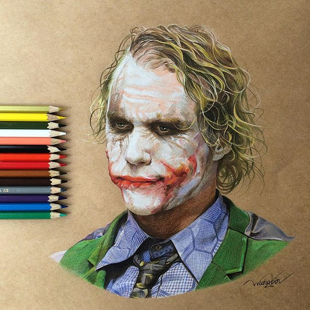 Heath Ledger's Joker by godot_23