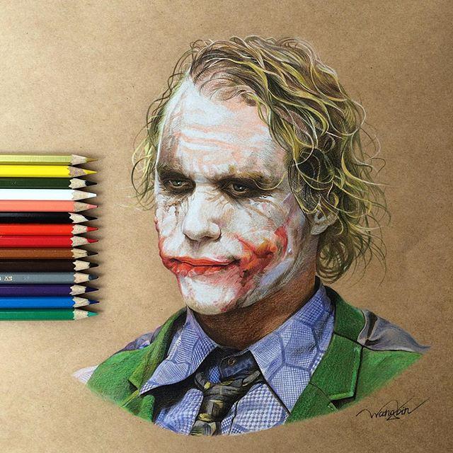 Heath Ledger's Joker by godot_23
