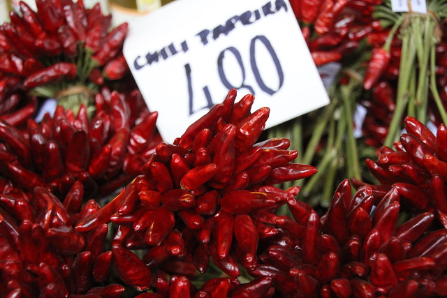 Chillis in the market - Budapest