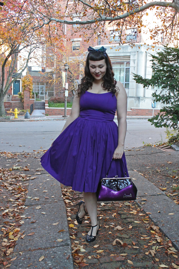 pinup couture jenny dress dark purple