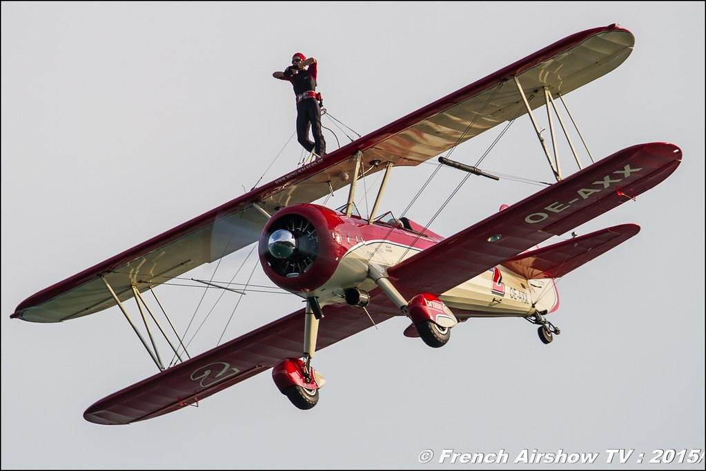 Peggy's Wing-Walkers , Boeing B51N1 Stearman, OE-AXX ,wingwalkers, wing-walkers.de , Peggy's WingWalkers 2015, Sankt Wolfgang / St Wolfgang : Austria , scalaria air challenge 2015, Meeting Aerien 2015